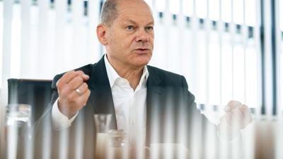 """SPD-Kanzlerkandidat Olaf Scholz. """"Die SPD garantiert ein stabiles Rentenniveau"""", so der derzeitige Vizekanzler gegenüber der Deutschen Presse-Agentur."""