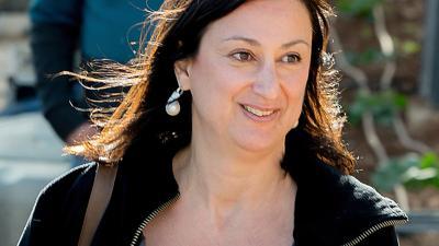 Daphne Caruana Galizia wurde im Oktober 2017 durch die Explosion einer Autobombe getötet.