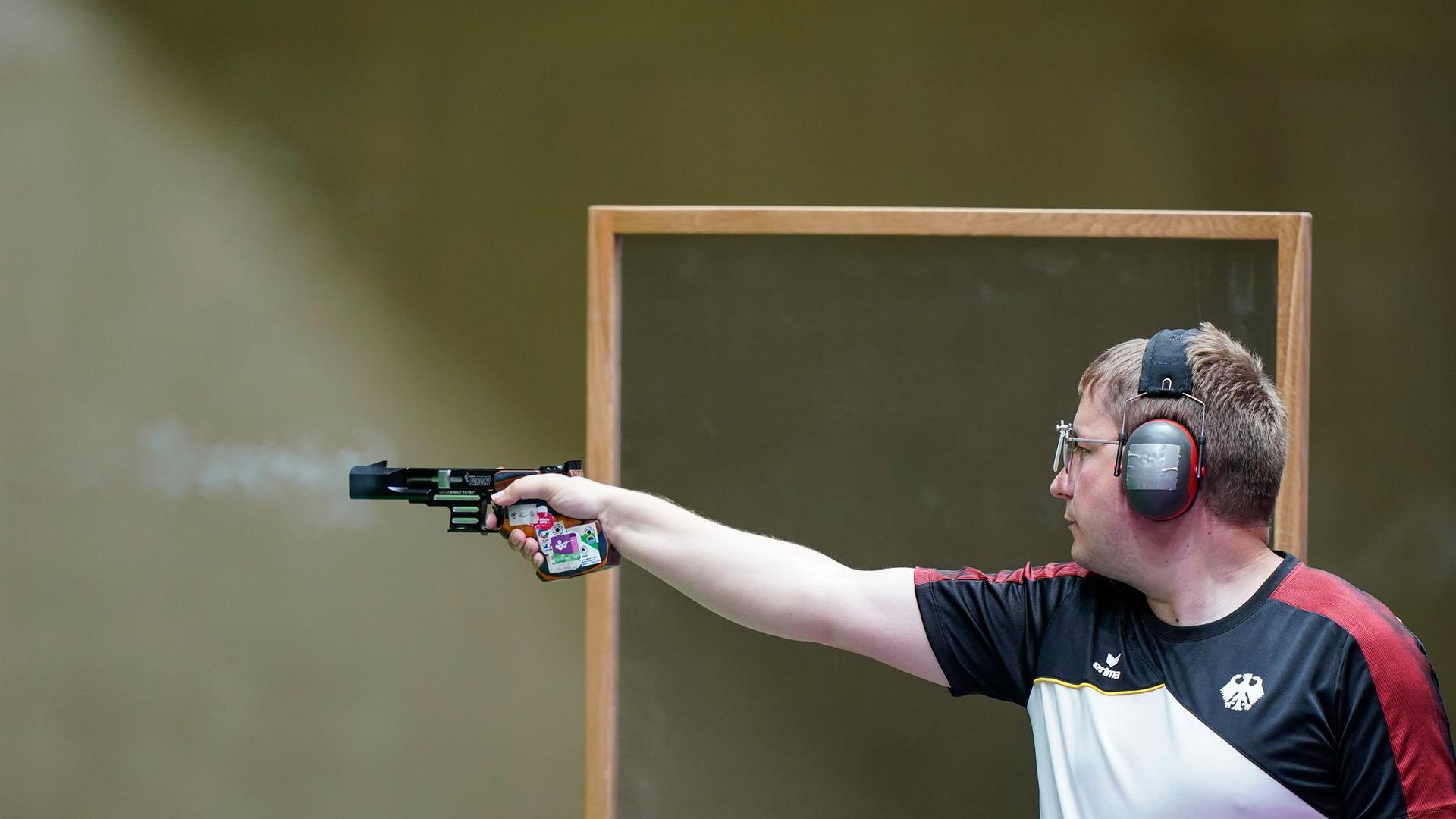 Schoss über die 25-Meter-Distanz an einer Medaille vorbei: Christian Reitz.