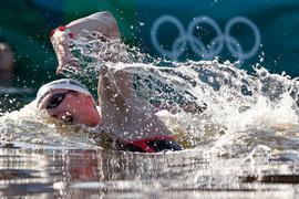 Florian Wellbrock ist Olympiasieger über die zehn Kilometer Freiwasserschwimmen.