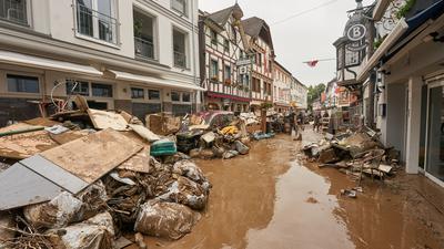 Hochwasserschäden in Bad Neuenahr-Ahrweiler.