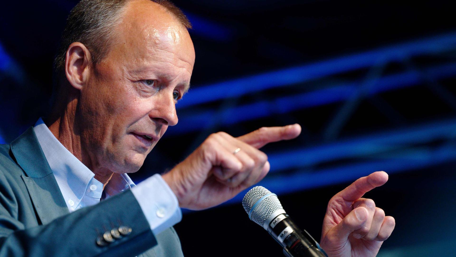 Friedrich Merz beim Wahlkampfauftakt der Jungen Union von Nordrhein-Westfalen.