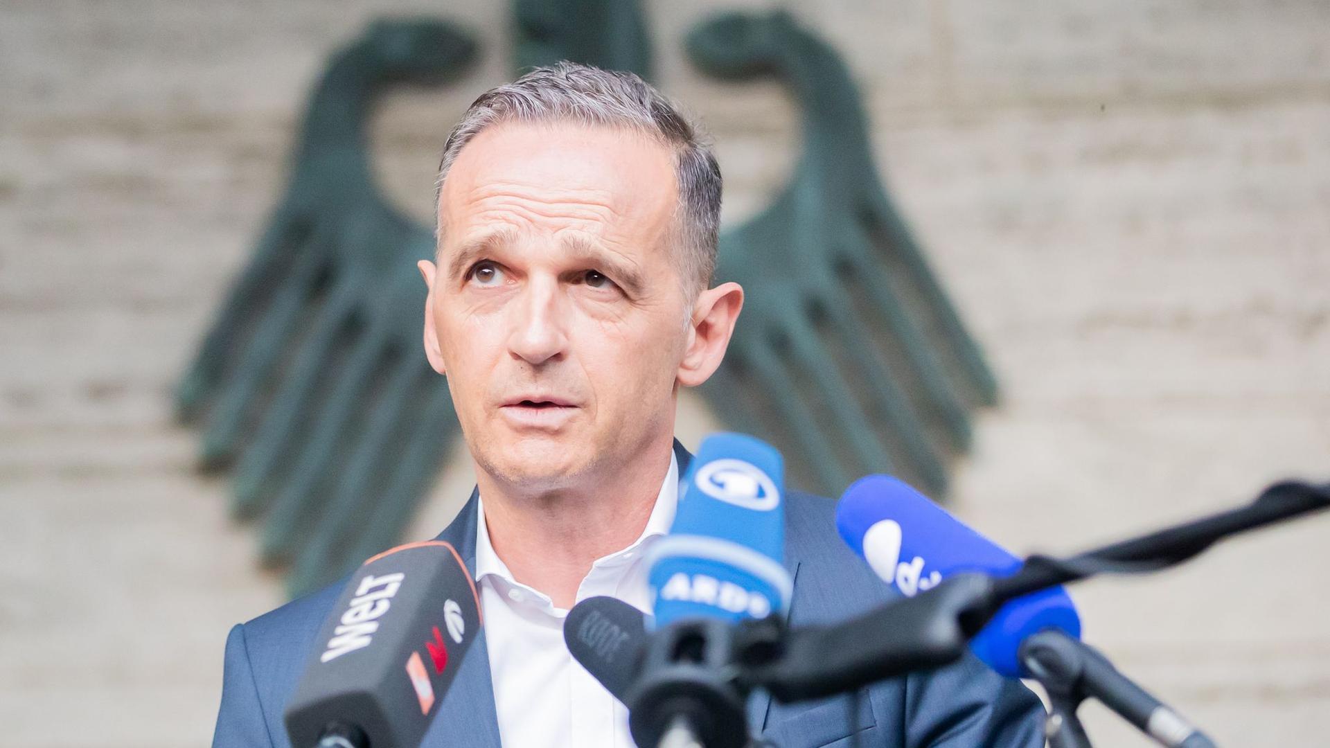 Heiko Maas bei seinem Statement zur Lage in Afghanistan.