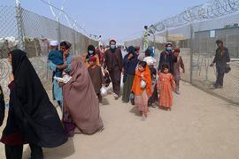 Am Grenzübergang nach Pakistan.