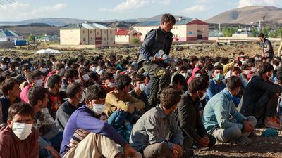 Flüchtlinge aus Afghanistan, Pakistan und dem Iran in der Türkei.