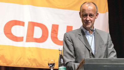 Friedrich Merz (CDU) spricht.