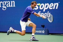 Daniil Medwedew in Aktion beim US-Open-Finale.