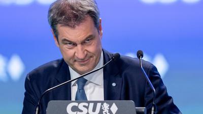 Parteichef Markus Söder beim CSU-Parteitag in Nürnberg am vergangenen Wochenende.