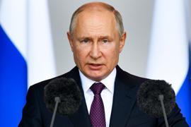 Der russische Präsident Wladimir Putin will vorerst nur online an Konferenzen teilnehmen.