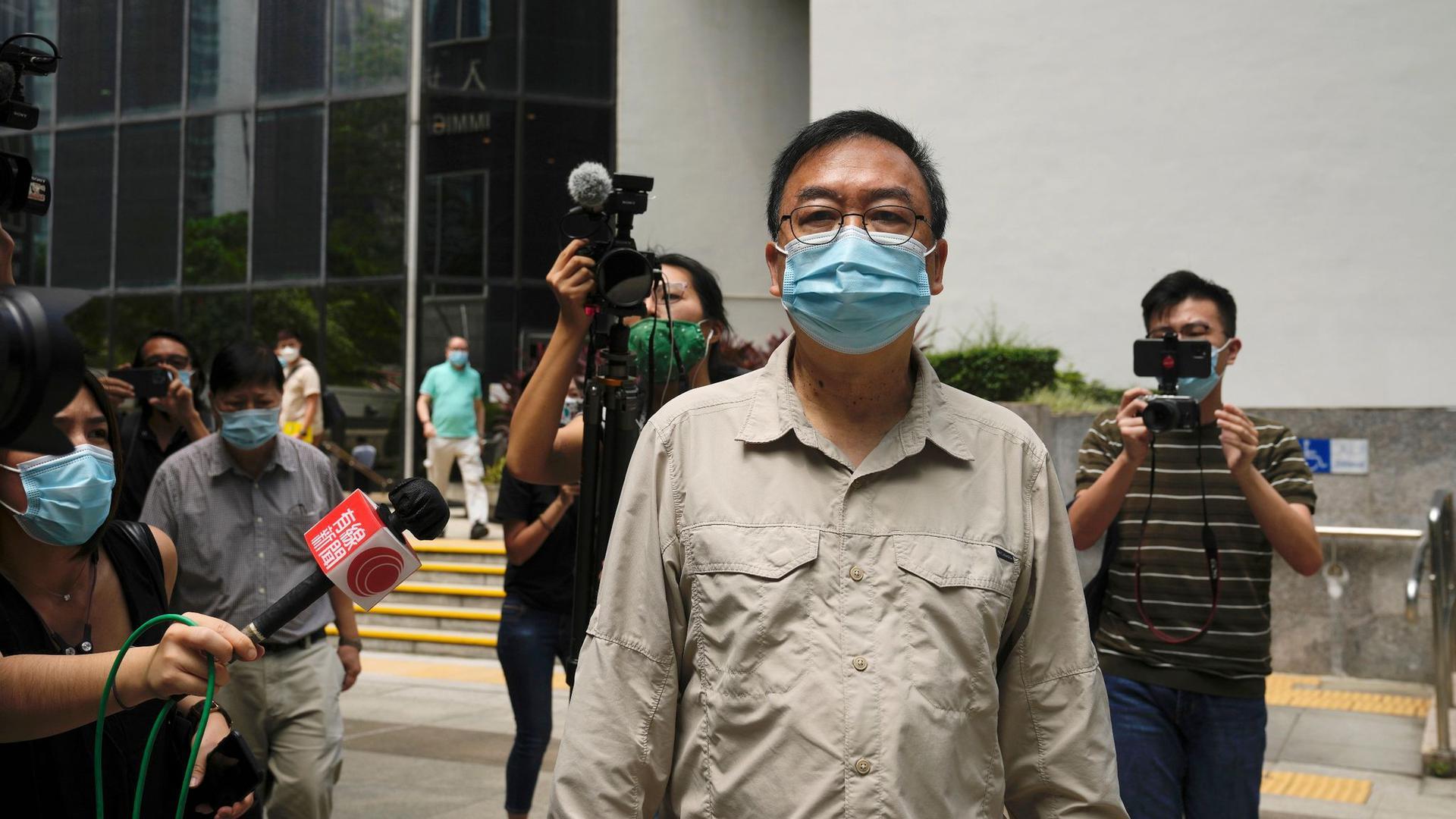 Der pro-demokratische Aktivist Cheung Man-kwong hat eine Bewährungsstrafe erhalten..
