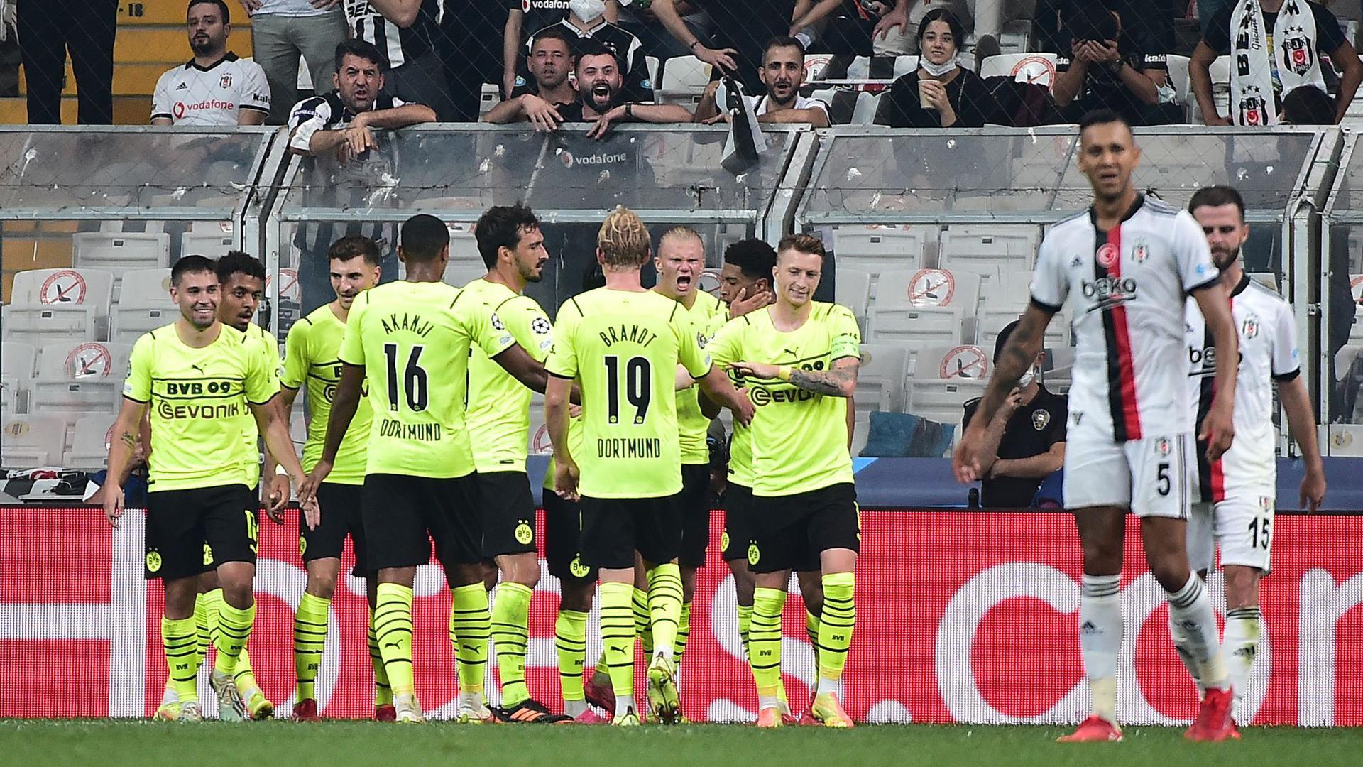 Borussia Dortmund setzte sich knapp bei Besiktas Istanbul durch.