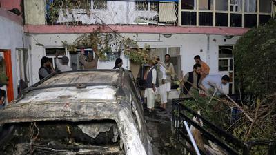 Bei dem Drohnenangriff wurde ein Auto vor einem Haus in Kabul getroffen. Doch es starben keine Terroristen, sondern Zivilisten.