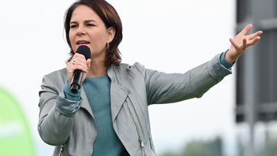 Grünen-Kanzlerkandidatin Annalena Baerbock bei einer Wahlkampfveranstaltung.