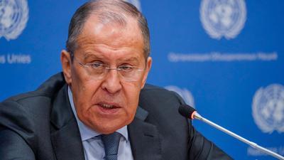 Der russische Außenminister Sergej Lawrow ist zurzeit in New York.