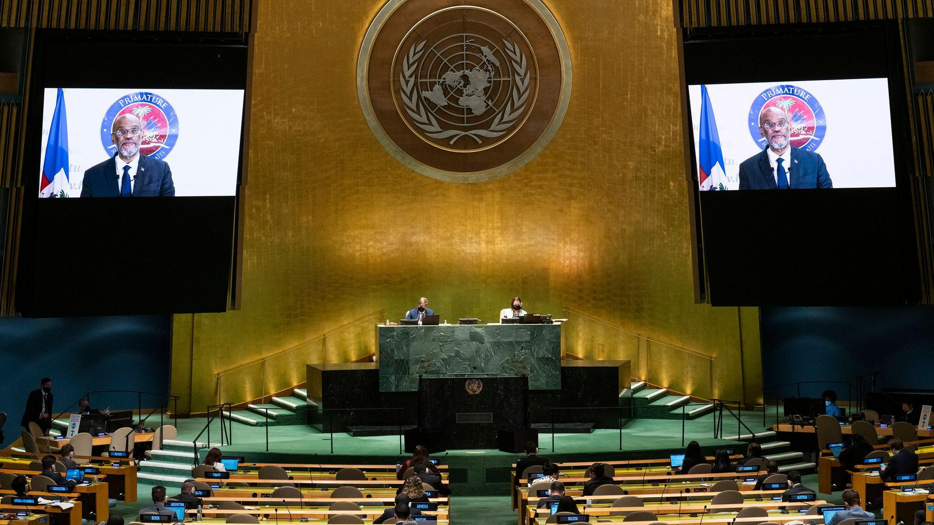 Sitzung in der UN-Generalversammlung am Hauptsitz der Vereinten Nationen. (Archivbild)