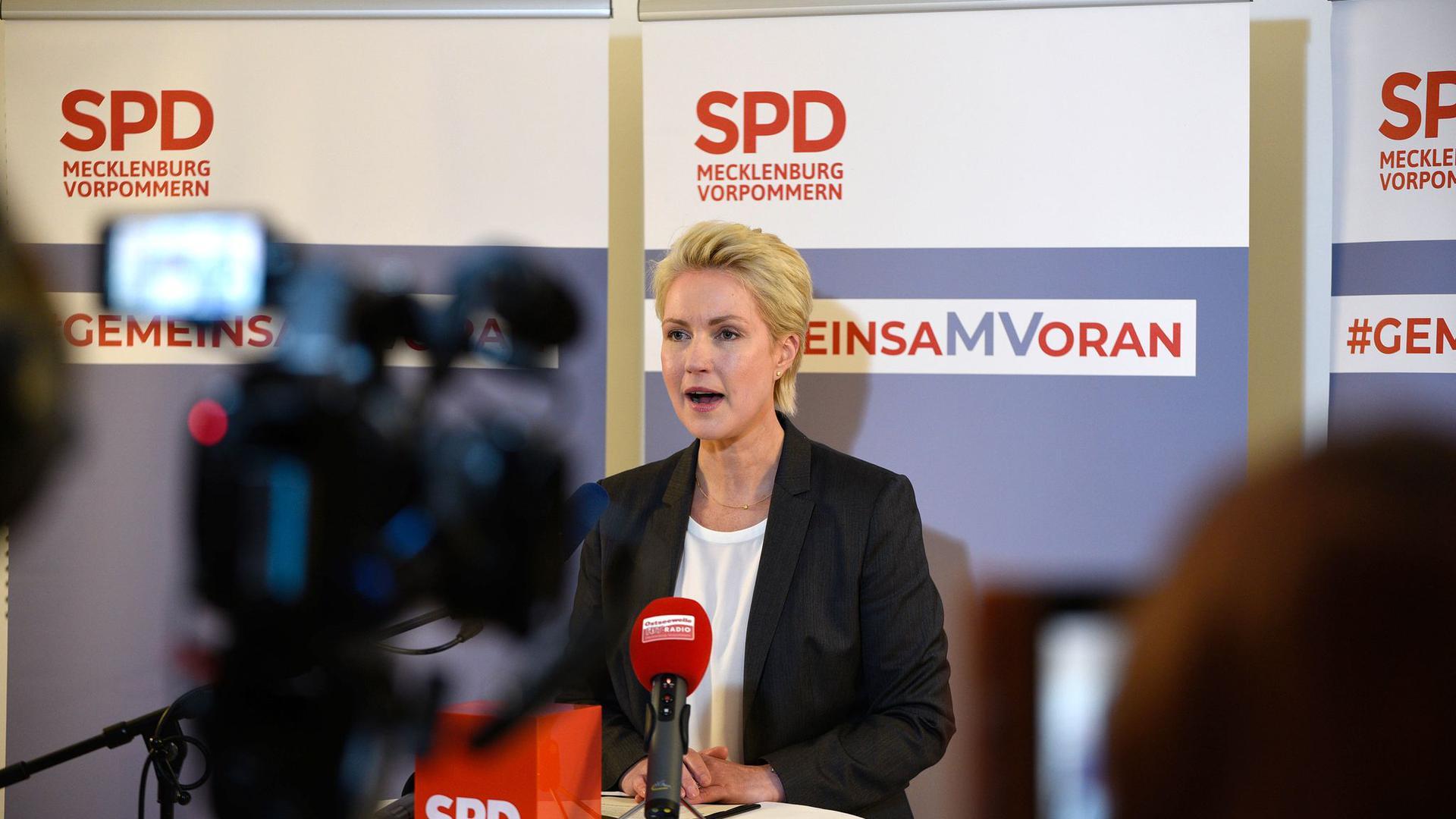 Die amtierende und künftige Ministerpräsidentin von Mecklenburg-Vorpommern: Manuela Schwesig.