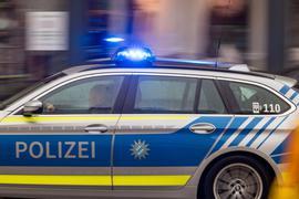 Die Polizei unterwegs.