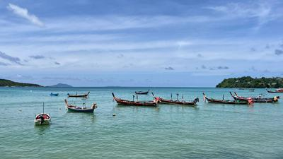 Fischerboote vor Rawai auf Phuket. Symbolbild