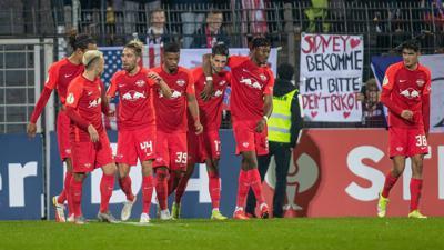 RB Leipzig setzte sich im DFB-Pokal gegen den SV Babelsberg durch.