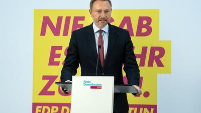 FDP-Chef Christian Lindner hat Interesse am Posten des Bundesfinanzministers bekundet.