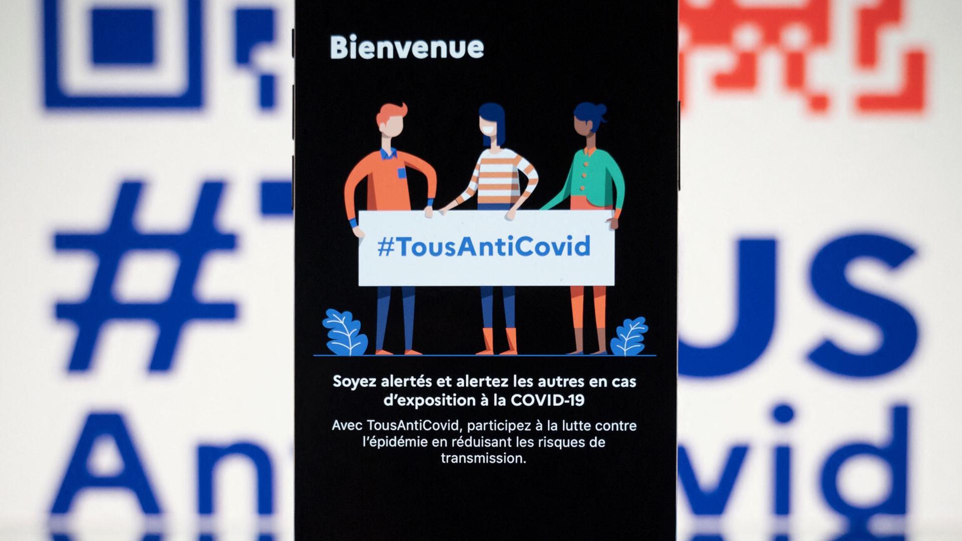 TousAntiCovid app in Frankreich