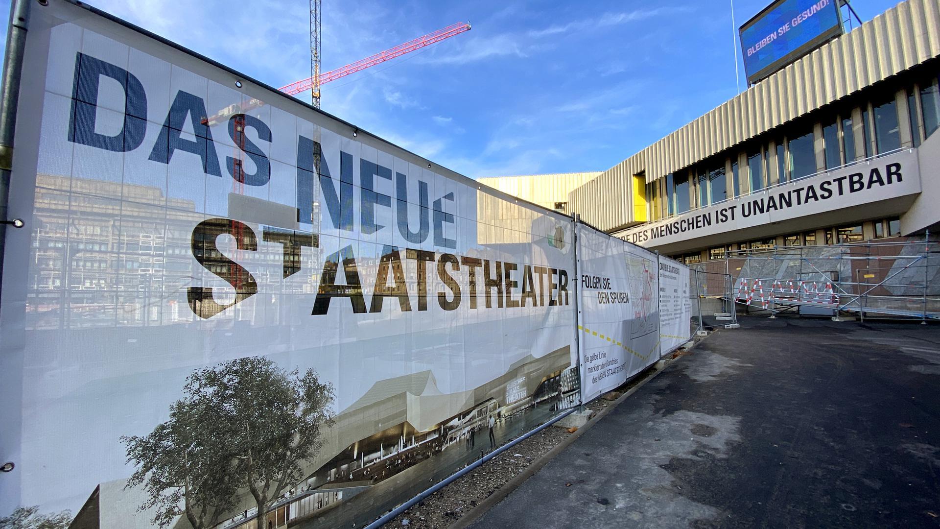 15.11.2020 Das Badische Staatstheater während des Lockdowns im November