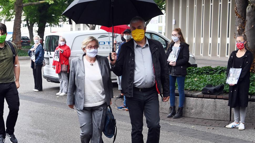 Kunstministerin und Verwaltungsratsvorsitzende: Theresia Bauer, hier bei der Ankunft an der Nancyhalle Karlsruhe, gilt als schützende Hand über Peter Spuhler.