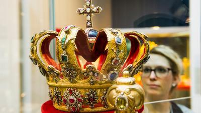 Die großherzoglich-badische Krone im Badischen Landesmuseum Karlsruhe.