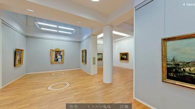 Oberlichtsaal im virtuellen Rundgang der Kunsthalle Karlsruhe.