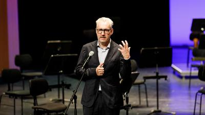 Peter Spuhler, Generalintendant des Badischen Staatstheaters Karlsruhe, am 19. September 2020 beim Theatertag zum Auftakt der Saison.