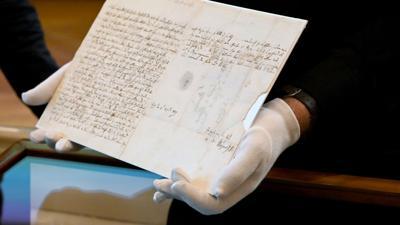 Ein Brief des Musikgenies Wolfgang Amadeus Mozart (1756-1791) an seinen schwerkranken Vater vom 4. April 1787.