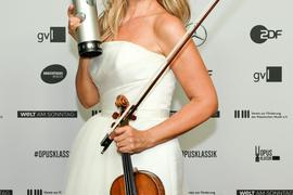 """Anne-Sophie Mutter erhielt den Preis als """"Beste Instrumentalistin""""."""