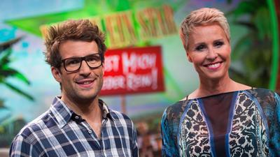 """Sonja Zietlow und Daniel Hartwig, die beiden Moderatoren des RTL-Dschungelcamps""""."""