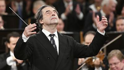 Riccardo Muti beim Neujahrskonzert 2018 der Wiener Philharmoniker.