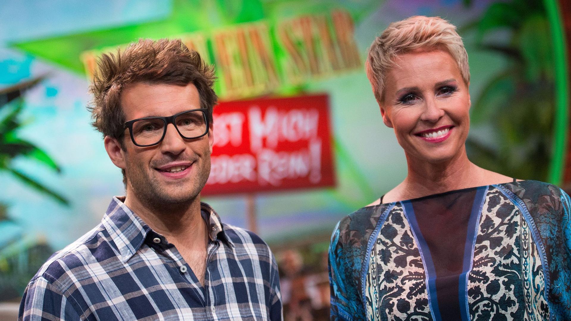 """Die """"Dschungelshow""""-Moderatoren Sonja Zietlow und Daniel Hartwich 2015 in Hürth."""