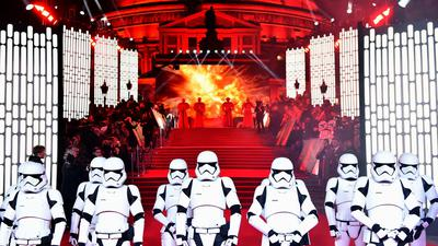 """Europa-Premiere von """"Star Wars:Die letzten Jedi"""" 2017 in London."""
