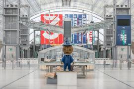 Das Leipziger Messemännchen wird auch in diesem Jahr keine Buchmessen-Besucher empfangen.