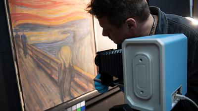 """Mit der Infrarotkamera dem Geheimnis auf der Spur:Edvard Munchs """"Der Schrei"""" wird durchleuchtet."""