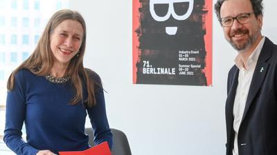 Das Leitungs-Duo der Berlinale, Geschäftsführerin Mariette Rissenbeek,  und Carlo Chatrian, künstlerischer Direktor.