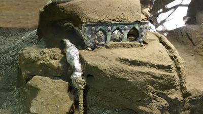 In Pompeji haben Archäologen einen einzigartigen Triumphwagen aus der Antike ausgegraben.