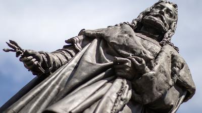 Das Albrecht-Dürer-Denkmal in Nürnberg.