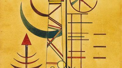 """Das Kunstwerk """"Gebogene Spitzen"""" des russischen Malers Wassily Kandinsky (undatiert)."""