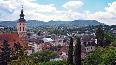 Der Blick auf die Innenstadt von Baden-Baden.