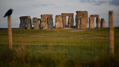 Das Bauwerk Stonehenge.
