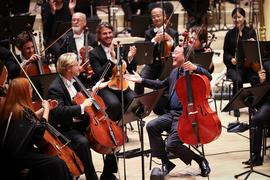 Der Cellist Yo-Yo Ma (vorne, r) erhält den Kunstpreis Praemium Imperiale.