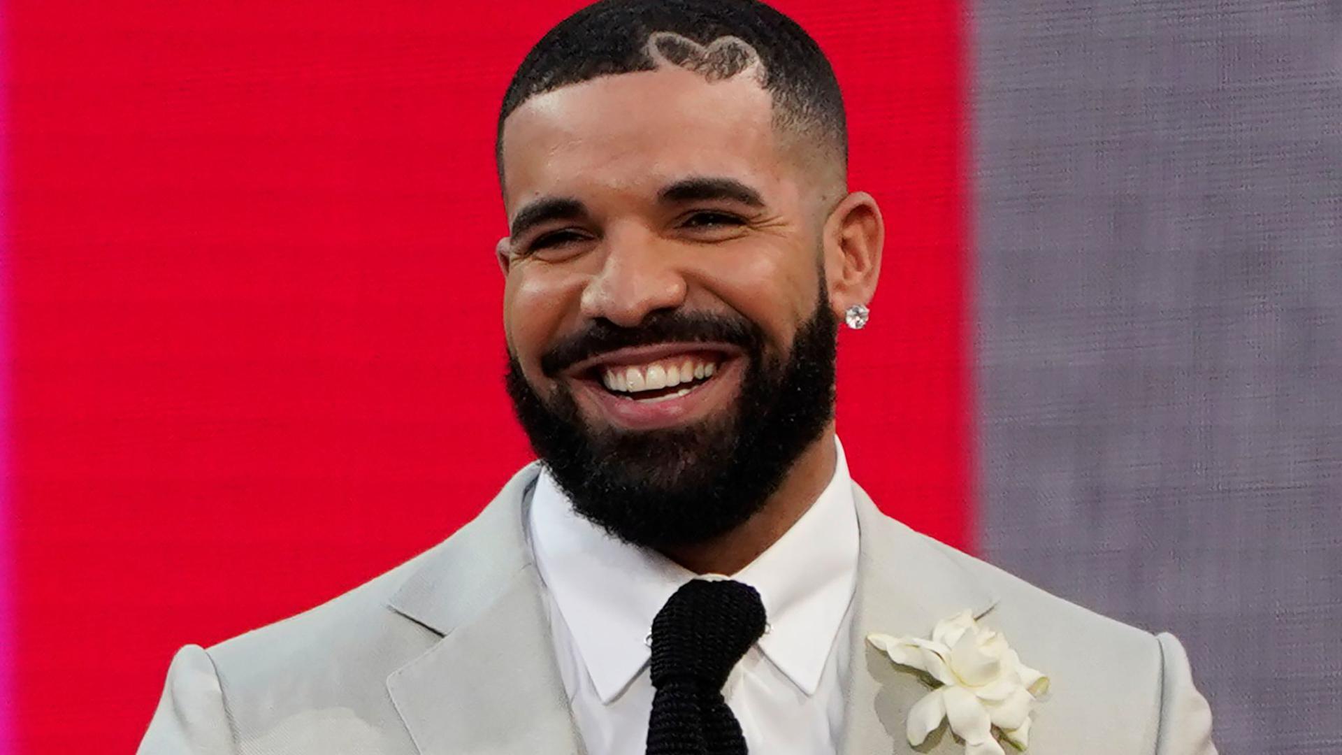 Drake, Rapper und R&B-Sänger, ist einsame spitze.
