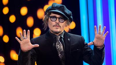 Der Schauspieler Johnny Depp beim Internationalen Filmfestival von San Sebastián.im Kursaal-Palast.