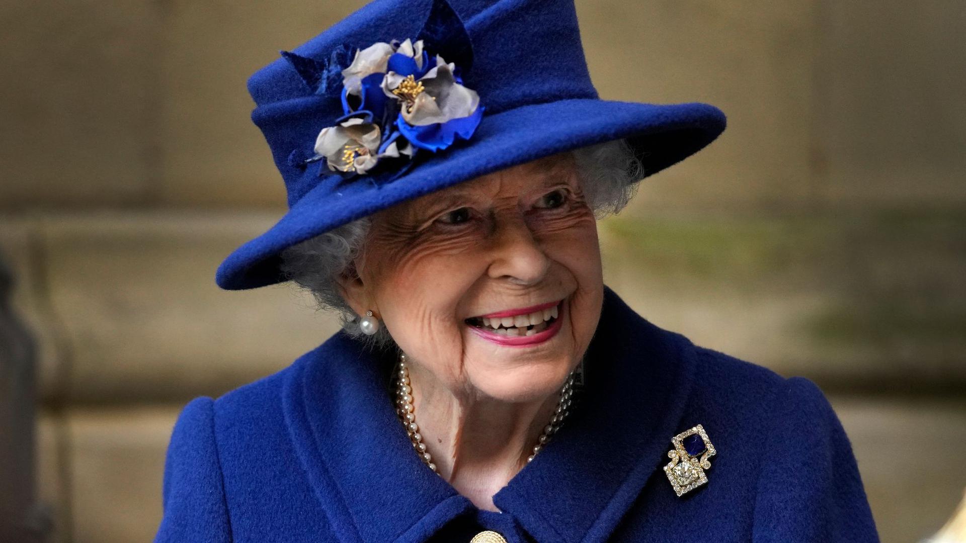 Unermüdlich im Dienst:Die britische Königin Elizabeth II. nach einem Dankgottesdienst in London.