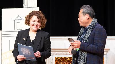 Die beiden Jurymitglieder Jekaterina Bordacheva und Kim Sang-hwa.
