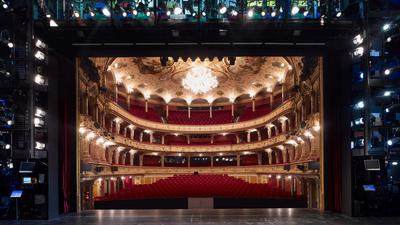 Blick in den Zuschauersaal des Opernhauses Zürich